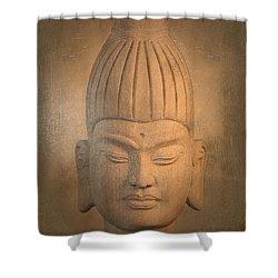 antique oil effect Buddha Burmese. Shower Curtain by Terrell Kaucher