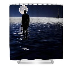 Antony Gormley Statues Crosby Shower Curtain