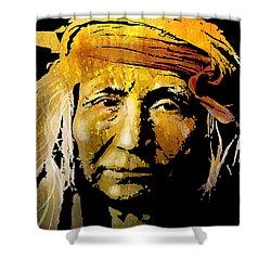 Apache Brave Shower Curtain by Paul Sachtleben