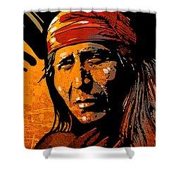 Apache Warrior Shower Curtain