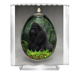 Ape Gorilla Art Shower Curtain