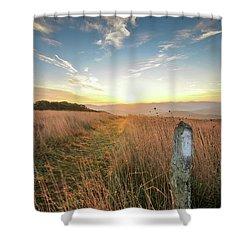 Appalachian Trail Sunrise Shower Curtain