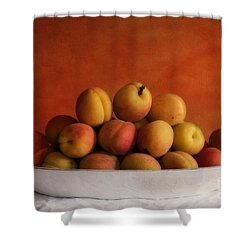 Apricot Delight Shower Curtain by Priska Wettstein