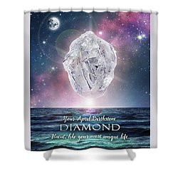 April Birthstone Diamond Shower Curtain