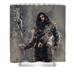 Aquaman Shower Curtain by Elena Kosvincheva