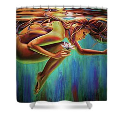 Aquarian Rebirth Shower Curtain