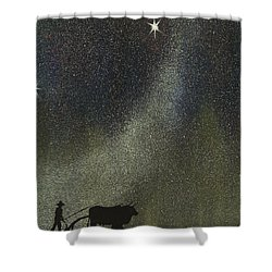 Arado De Bueyes Shower Curtain