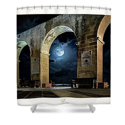 Arched Moon Shower Curtain