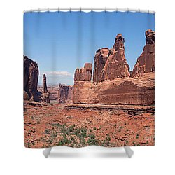 Arches National Park Panorama Shower Curtain by Merton Allen