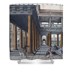 Architectural Caprice With Figures Shower Curtain by Hans Vredeman de Vries