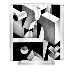 Archtectonic 8 Shower Curtain
