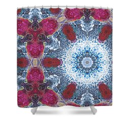 Arctic Blossom Shower Curtain