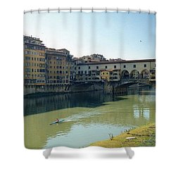 Arno River In Florence Italy Shower Curtain by Marna Edwards Flavell