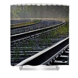 Around The Bend Shower Curtain by Douglas Stucky