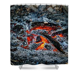 Around The Fire Shower Curtain