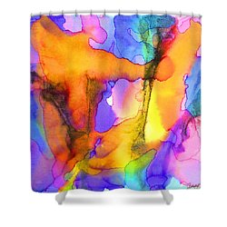 1 Art Abstract Painting Modern Color Signed Robert R Erod Shower Curtain