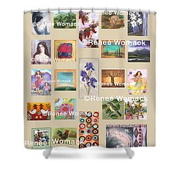 Art Collection Shower Curtain by Renee Womack