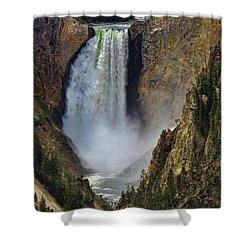 Artist Point Lower Falls Close Shower Curtain