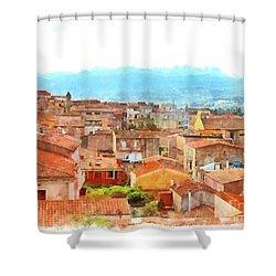 Arzachena Urban Landscape Shower Curtain