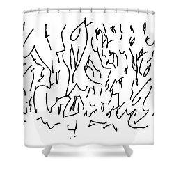 Asemic Writing 01 Shower Curtain