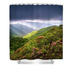 Asheville Nc Blue Ridge Parkway Spring Flowers North Carolina Shower Curtain
