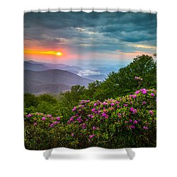 Asheville North Carolina Blue Ridge Parkway Scenic Landscape Shower Curtain