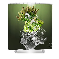 Asparagus Splash Shower Curtain