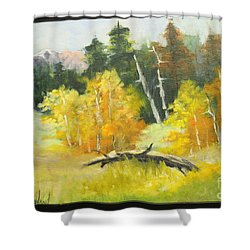 Aspens En Plein Air Shower Curtain