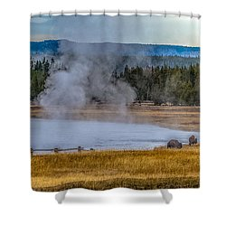 Shower Curtain featuring the photograph At Dawn by Yeates Photography