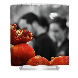 At The Market Shower Curtain by Arik Baltinester