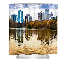 Atlanta - Usa Shower Curtain by Luciano Mortula