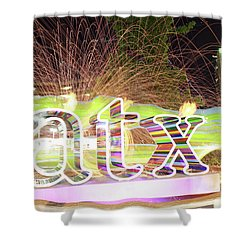 atx Shower Curtain by Andrew Nourse