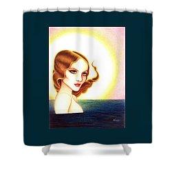 August Honey Shower Curtain