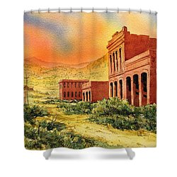 Aurora Ghost Town Nevada Shower Curtain by Kevin Heaney