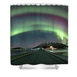 Aurora Panoramic Shower Curtain