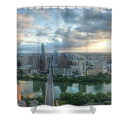 Austin Cityscape Shower Curtain by Andrew Nourse
