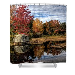 Autumn In Maine Shower Curtain by Greg DeBeck