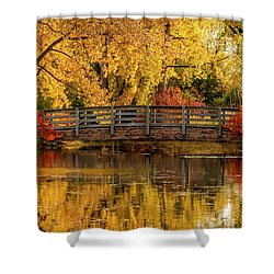 Autumn In The Park Shower Curtain by Teri Virbickis