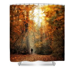 Autumn Meditation Shower Curtain by Jessica Jenney