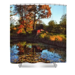 Autumn Palette Shower Curtain by Joann Vitali