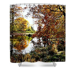 Autumn Reflections Shower Curtain by Susan Savad