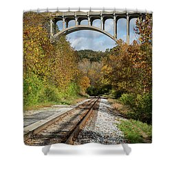 Shower Curtain featuring the photograph Autumn View by Dale Kincaid
