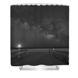 Avalon New Jersey Milky Way Rising  Shower Curtain