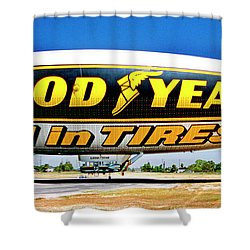 My Goodyear Blimp Ride Shower Curtain
