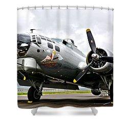 B-17 Bomber Airplane  Shower Curtain