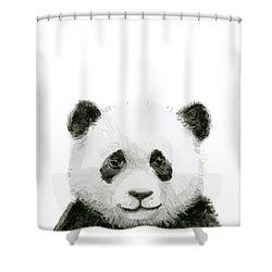 Baby Panda Watercolor Shower Curtain