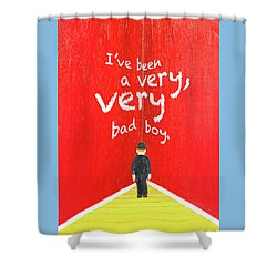 Bad Boy Greeting Card Shower Curtain