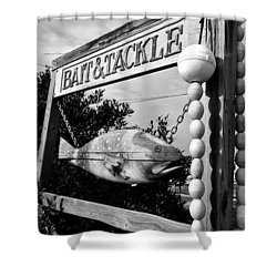 Bait And Tackle Shower Curtain by David Lee Thompson