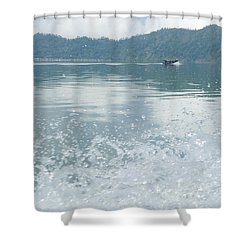 Shower Curtain featuring the photograph Bali River  by Nora Boghossian