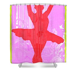 Ballet Dancer Shower Curtain by David G Paul